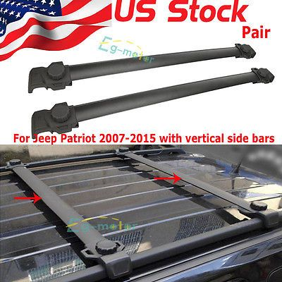 For Jeep Patriot 07 15 Aluminum Car Top Luggage Cargo Roof Rack Cross Bar  Carrie