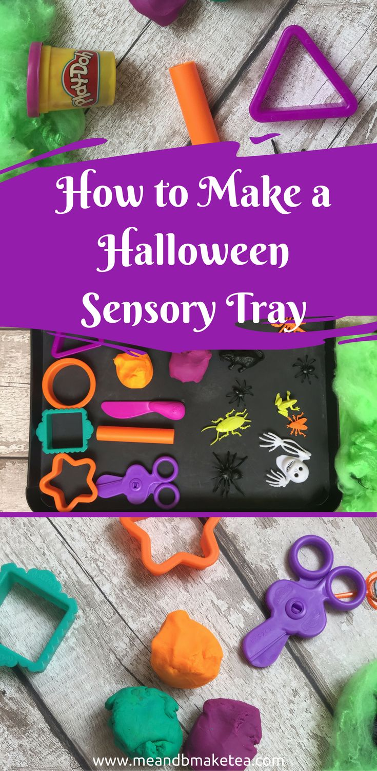 How to Make a Halloween Themed Play-Doh Sensory TrayB is loving Halloween themed books at the moment. Even if you wanted to, you can't really escape the fact that in less than 30 days, Halloween will be done and dusted and Christmas will be upon us. Eek.I