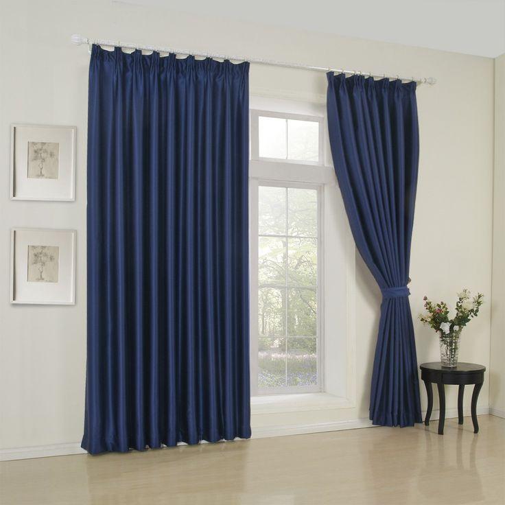 Classic Solid Ink BlueRoom Darkening Curtain  #curtains #decor #homedecor #homeinterior #blue