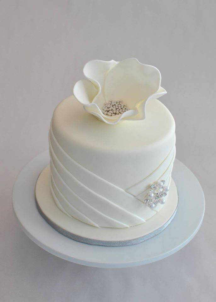 White Bling Mini Cake