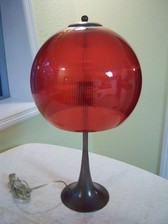 retro style accent lampred plastic round lamp shadebronze metal painted lamp base - Metal Lamp Shades