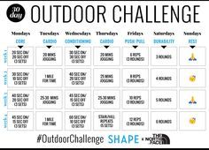 Enjoy the outdoors while sculpting your entire body with this intense 30-day outdoor workout plan.