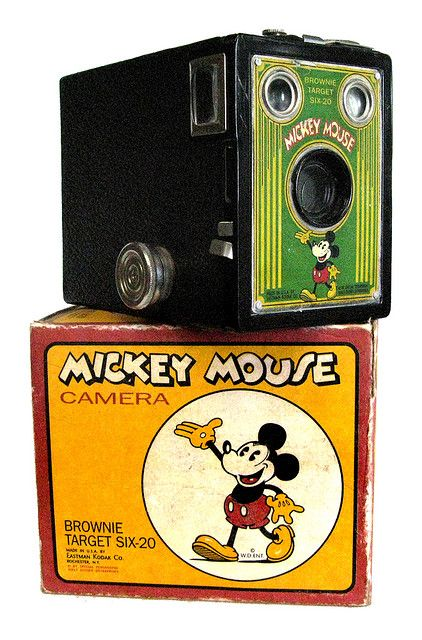 Kodak Mickey Mouse Brownie Target camera box, I'll take one of these.
