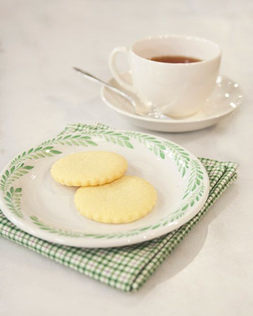 Irish Butter shortbread ~ DIY (Martha Stewart).  Well, I don't have Irish butter, but I have made shortbread cookies before, and they're STILL melt-in-your-mouth delicious with plain ol' ordinary butter ;)
