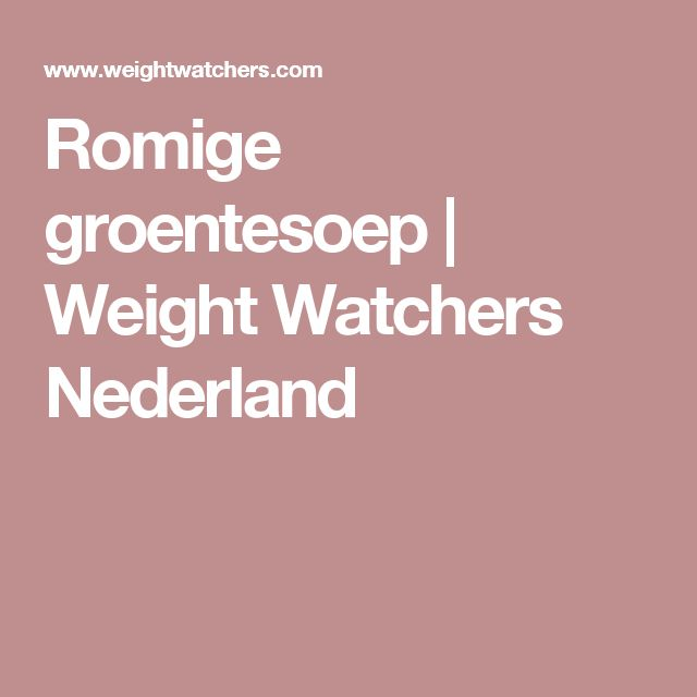 Romige groentesoep | Weight Watchers Nederland