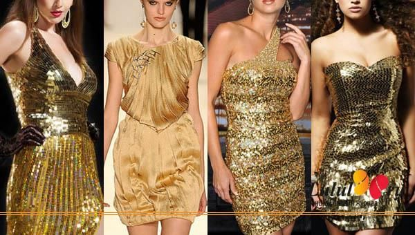 Модно ли золотое платье