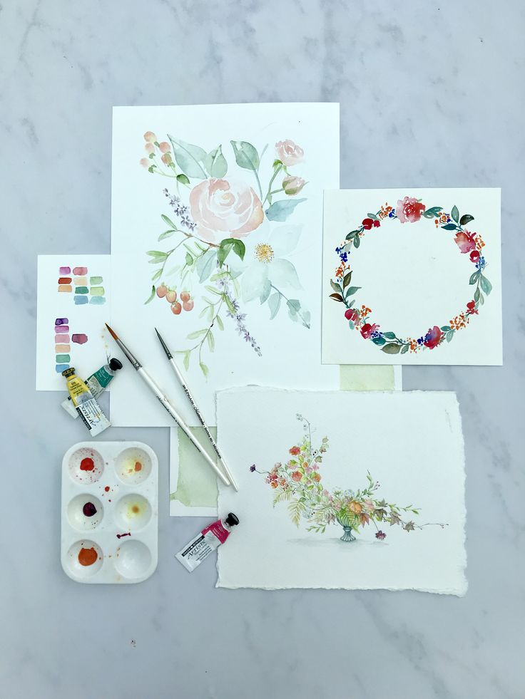 Hand painted watercolour roses and peonies. Whether in loose watercolour or detailed miniature, you can commission a watercolour florals painting