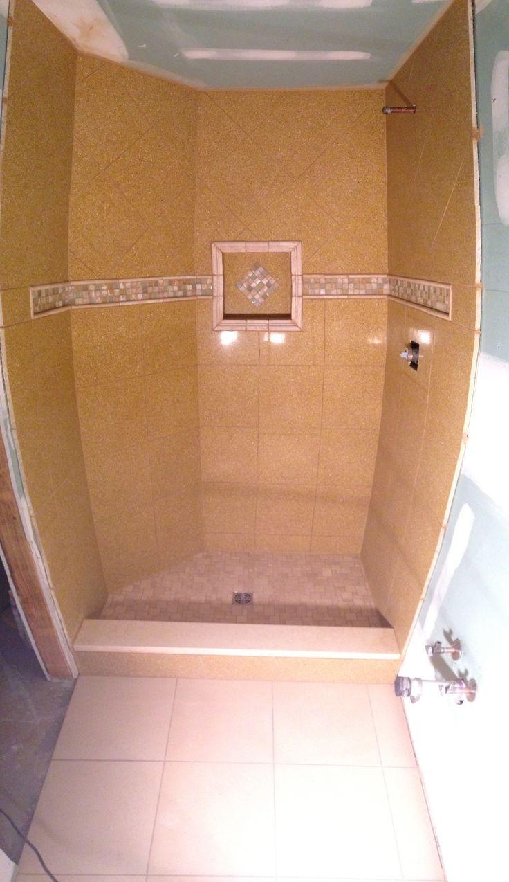 small bathroom stand up shower  bathroom tile  pinterest