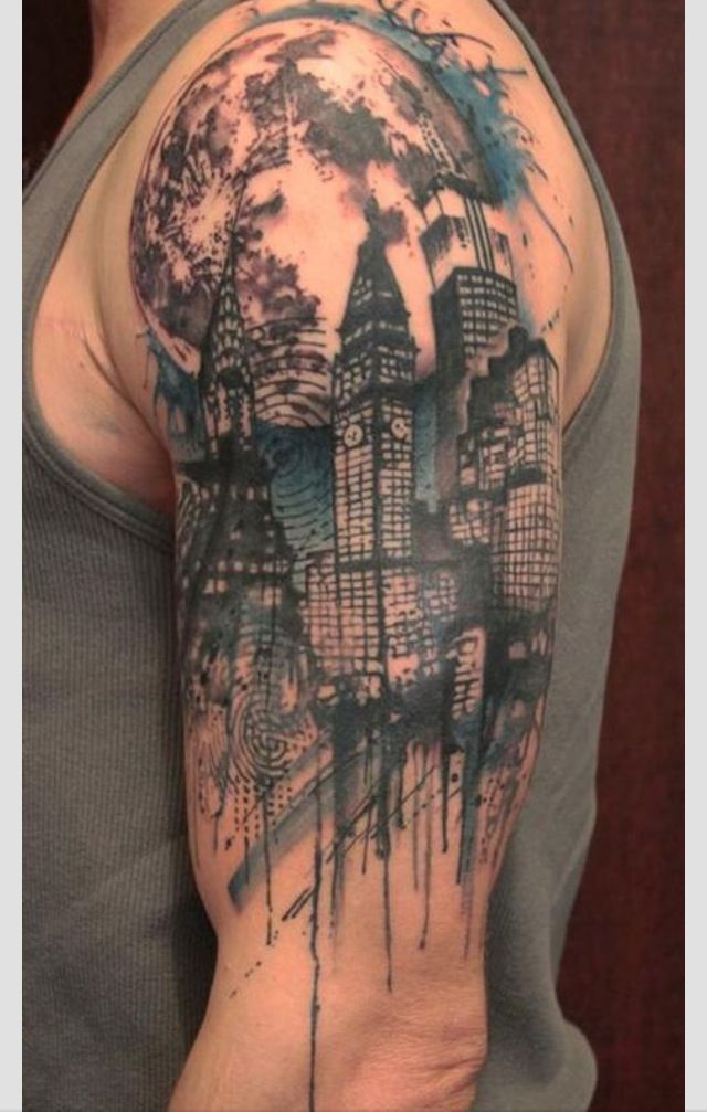 cityscape tattoo inked pinterest cityscapes and