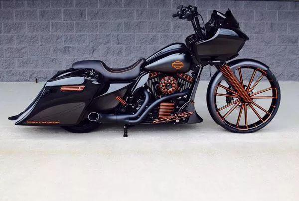 A custom Harley-Davidson Road Glide by BX Custom Designs.