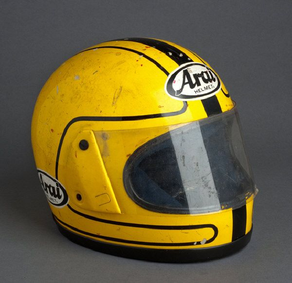 This looks like the helmet of one Joey Dunlop, now riding the eternal TT