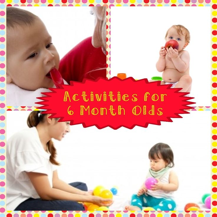 Developmental Activities for Your 6 Month Old Baby  B is for Blocks This activity helps baby with both visual and fine motor skills. Gather a few blocks both wooden and plastic for the best benefit. Allow baby to try to pick them up, and play with them as they would like (such as stacking them, …