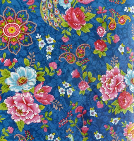Pip Studio Flowers in the mix dark blue wallpaper - Pip Studios