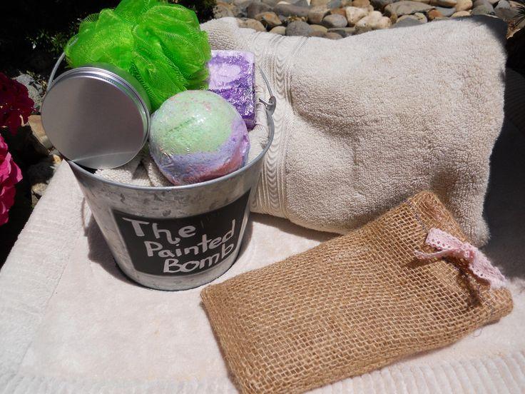Bath Bomb Gift Set // The Drunken Unicorn Small Set //Sugar Scrub Gift Set // Soap Gift Set // Handmade Gift Bag //Bath Gift Set by ThePaintedBomb on Etsy
