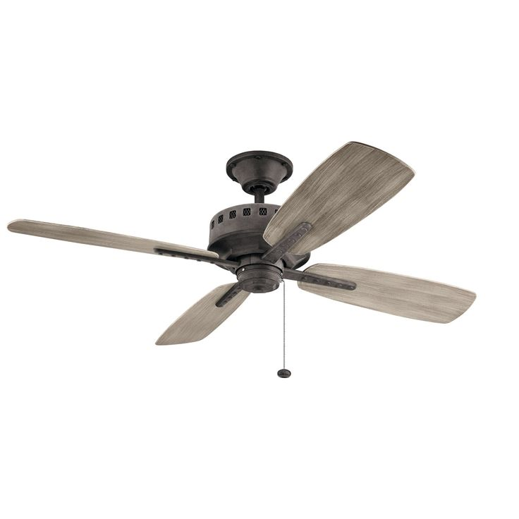 Kichler Eads Weathered Zinc 52 Inch Ceiling Fan On SALE