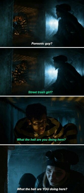 """""""What the hell are you doing here?"""" - Selina and Ed Nygma #Gotham"""