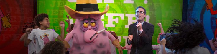 John Oliver and Jeff the Diseased  Lung. #JeffWeCan Watch the segment on #BigTobacco from Last Week Tonight http://youtu.be/6UsHHOCH4q8