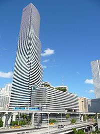 The Miami Tower is a 47-story, landmark office skyscraper in Miami, Florida, United States. It is located in central Downtown. It is currently the 8th tallest building in Miami and Florida. On April 18, 2012, the AIA's Florida Chapter placed it on its list of Florida Architecture: 100 Years. 100 Places as the Bank of America Tower.