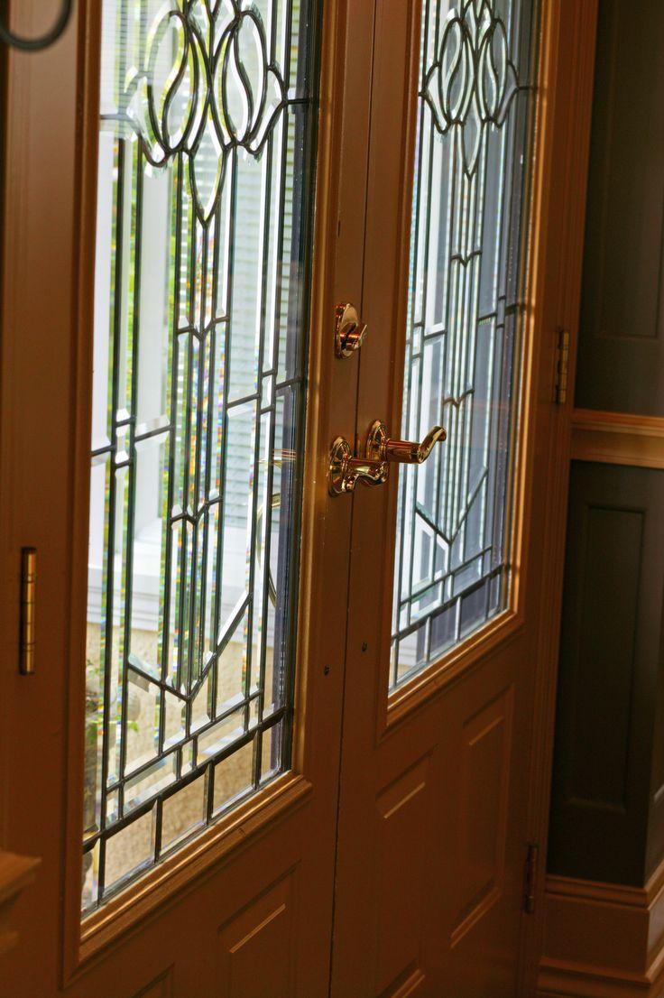 Leaded Glass Front Door