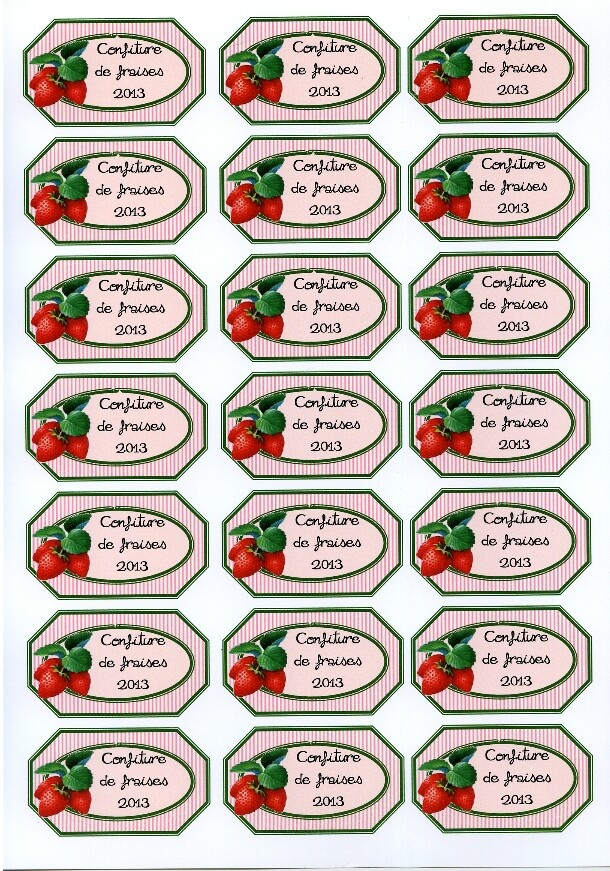 Préférence 47 best Etiquettes de confiture à imprimer (sur papier couché  KN03