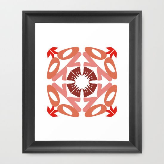 KALEIDOSCOPE LOVE Framed Art Print by Cristina Alhippio - $34.00