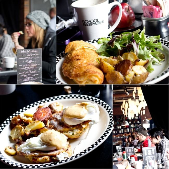 @Ayngelina's gorgeous School TO montage...one of my fave breakfast joints in Toronto.