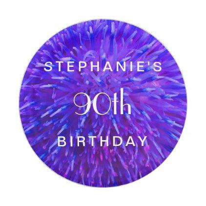 #Purple Abstract Paper Plates 90th Birthday Party Paper Plate - #giftidea #gift #present #idea #number #thirty #thirtieth #bday #birthday #30thbirthday #party #anniversary #30th
