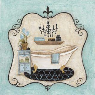 Laminas decoupage: LAMINAS PARA BAÑO , ETIQUETAS..ETC.. - antique bath