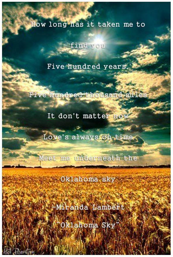 Meet Me Underneath The Oklahoma Sky Lyrics