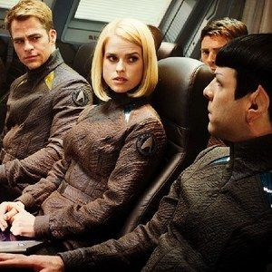 Star Trek Into Darkness 'J.J.'s Vision' Featurette -- In addition, the viral website AreYouThe1701.com has uncovered two photos featuring Chris Pine, Zachary Quinto and Alice Eve. -- http://wtch.it/urivK