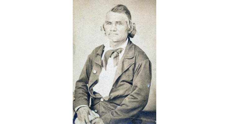 """Brigadier General Stand Watie (December 12, 1806–September 9, 1871) also known as Standhope Uwatie, Degataga, meaning """"stand firm"""", and Isaac S. Watie was a leader of the Cherokee Nation and a brigadier general of the Confederate States Army during the American Civil War. He commanded the Confederate Indian cavalry of the Army of the Trans-Mississippi, made up mostly of Cherokee, Muskogee and Seminole."""