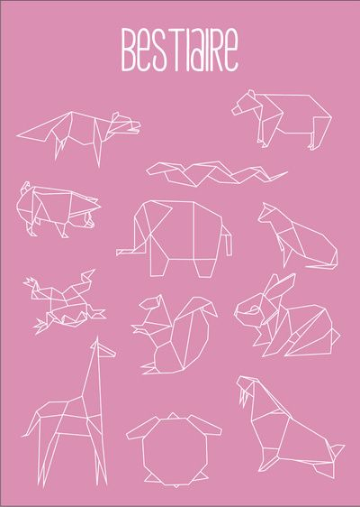 "Geometric Animals Art Print by zozio. Repinned by Elizabeth VanBuskirk on ""Teaching about the Incas.""  An easy way for kids to learn to draw Andean animals. Add toad to the list for toad is considered a transitional creature, of the earth and of the water. For this reason often depicted on Inca textiles today. Make a class bestiare, maybe in a handmade book."