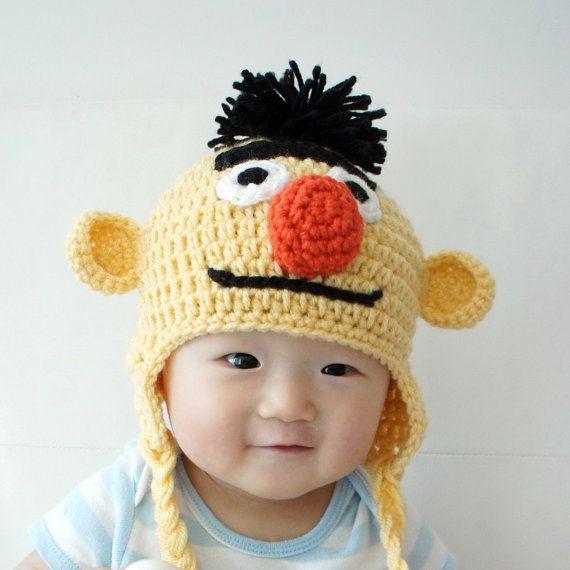 Bert Muppet Hat Bert sombrero del bebé del por stylishbabyhats