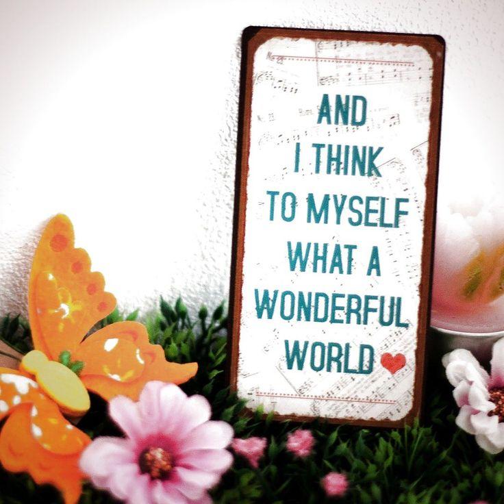 Nach dem Lied von Louis Armstrong. #louisarmstrong #music #musik #jazz #jazzlover #geschenk #geschenkidee #wonderfulworld