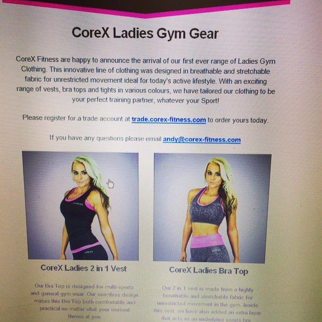Georgialeabrown We Just Launched The Range Of Corex Women S Clothing Across Europe Gym Gear Women Gym Women Gym Outfit