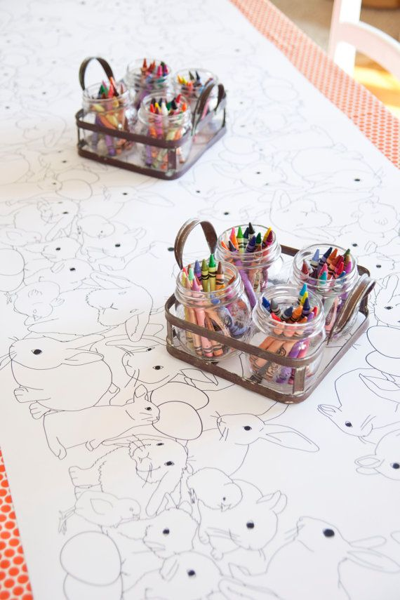 This is so cute for the kids at Easter dinner!  Easter Table Runner Coloring Page by MelindaBryantPhoto on Etsy.  Just click on the photo to shop now.  Also beautiful for the kids table or candy buffet at a Spring wedding! // Easter ideas #melindabryantphoto #melindabryantpartyboutique #easterdecor