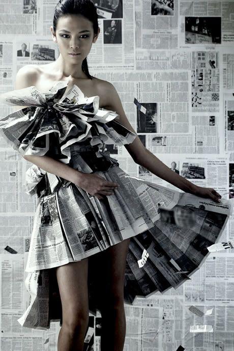 paper dresses..