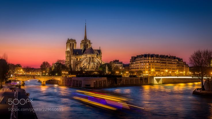 Blue Hour on Notre Dame by fredericmonin24