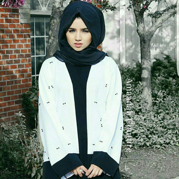 Saimascorner In Our Amaani Monochrome Abaya Hijabies