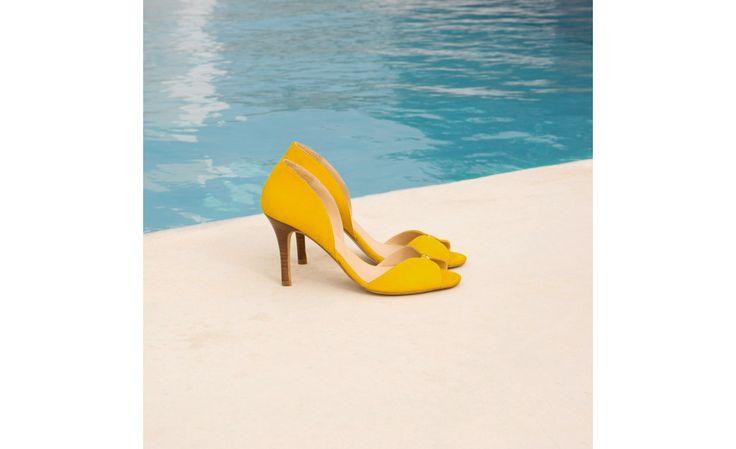 Escarpins jaune ambré - La Promise - Bobbies