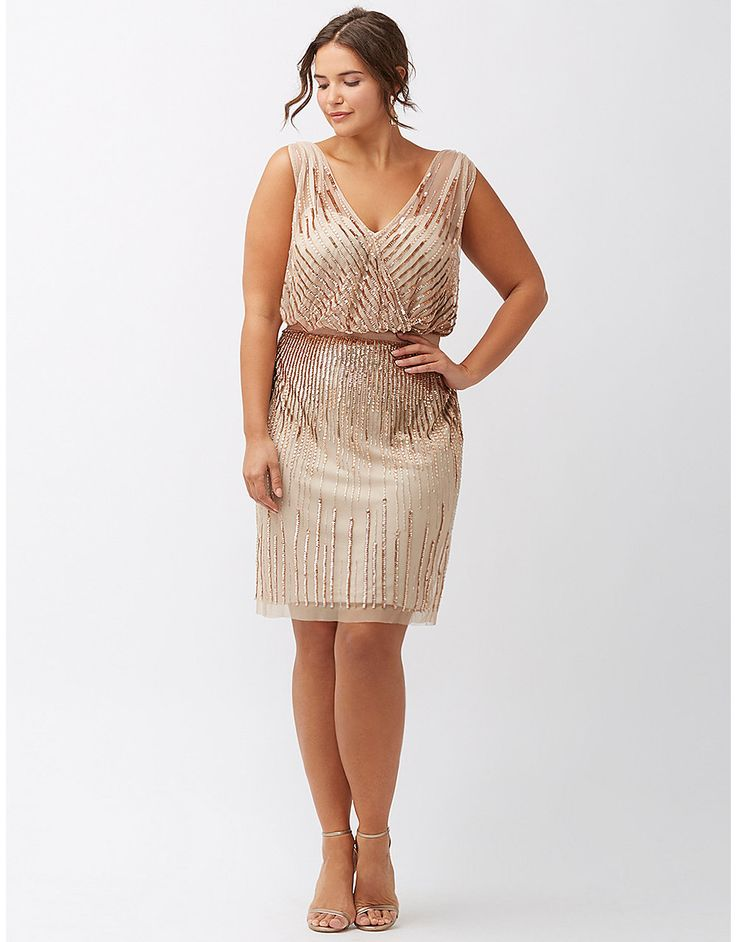 $495-Aidan Mattox, Salon Z Sequin Wrap Dress | DRESSES | Pinterest ...