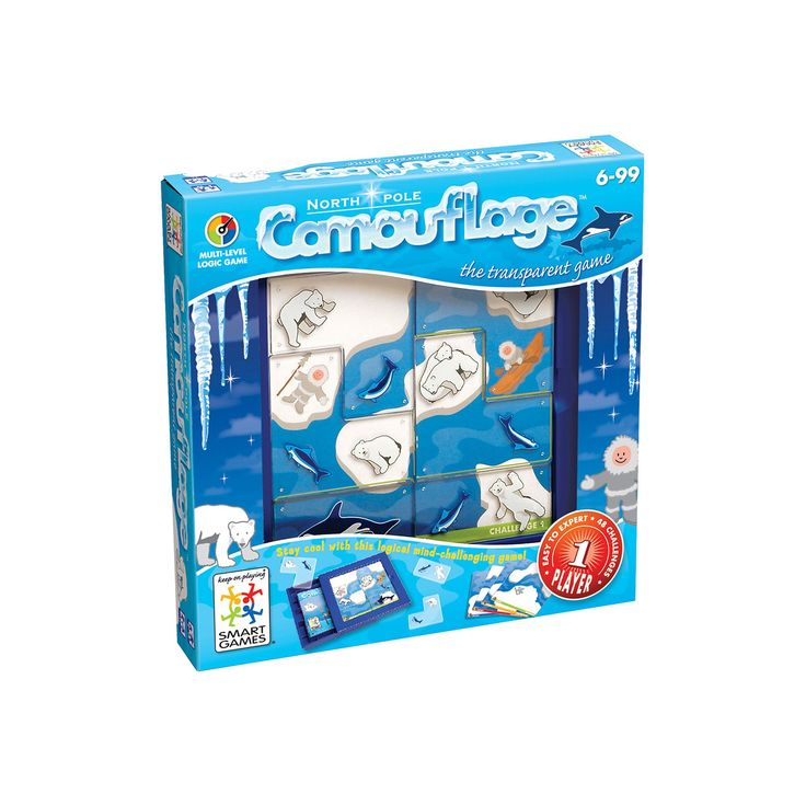 Smart Toys and Games North Pole Camouflage Logic Puzzle Game, Multicolor