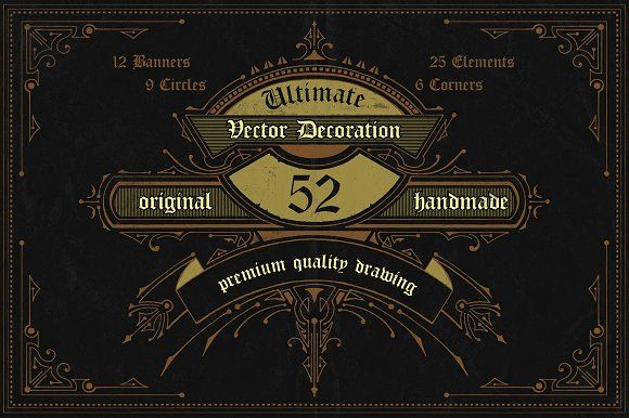 52Handdrawn Vector Banner Decoration by NStudio on @creativemarket