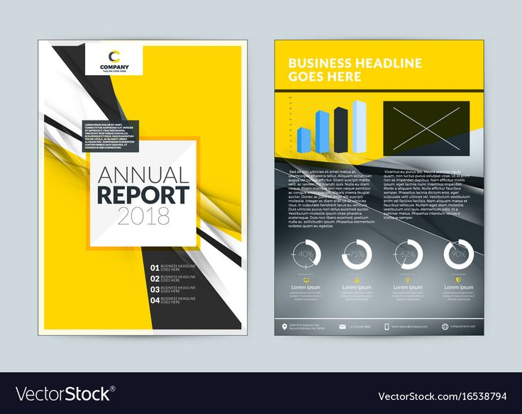 Annual report cover design template. Vector flyer mockup. Cover layout design wi...