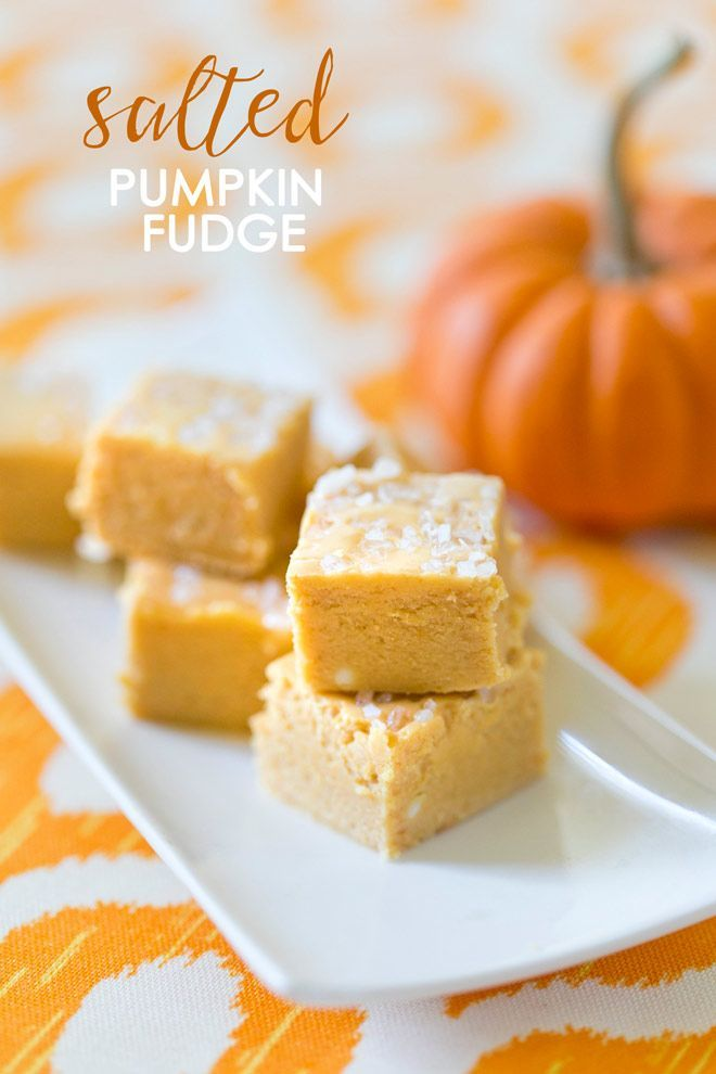 Try this easy salted pumpkin fudge recipe for the fall season and it will instantly become a family favorite!