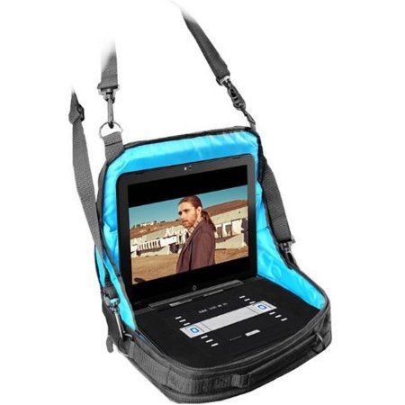 """USA Gear Traveling Carrying Case with In-Car Headrest Mounting System for 7""""-10"""" Portable DVD Players, Tablets, Laptops and More"""