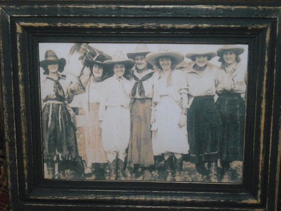 Vintage Cowgirl Photo Picture Black 5X7 by HarvestTimePrims, $9.00