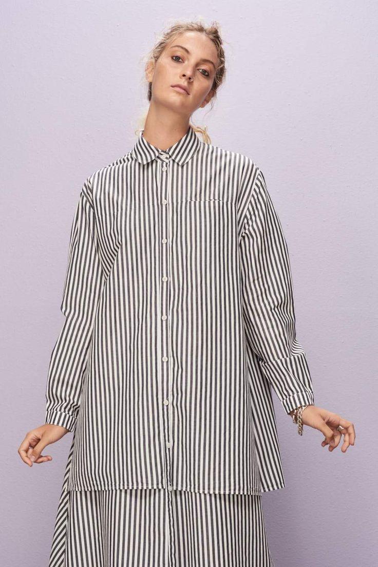 Rhyme Dress, Navy White Stripe