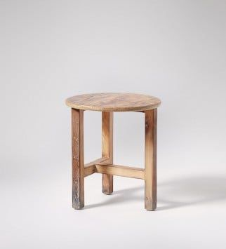 Tate, Stool, Charred-effect Reclaimed Pine