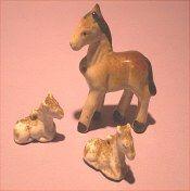 Miniature set of horses